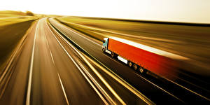 Picture Trucks Roads At speed Cars