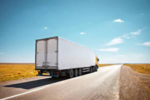 Wallpaper Trucks Roads Sky auto