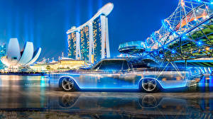 Image Lincoln Tuning Vintage Side Tony Kokhan Continental Crystal Neon Multicolors  el Tony Cars Design Art Cities Cars