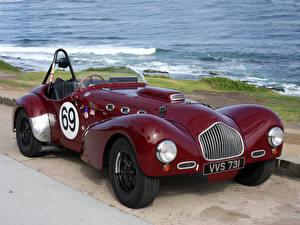 Hintergrundbilder Antik Küste Bordeauxrot Metallisch Roadster 1952 Allard K2 Roadster Race Car