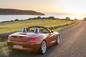 Picture BMW Roads Cabriolet Back view Roadster Bimmer Z4 Roadster 2014 sports automobile