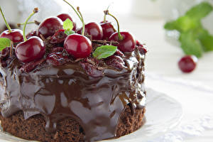 Hintergrundbilder Törtchen Kirsche Süßware Schokolade Nahaufnahme Lebensmittel