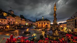 Hintergrundbilder Österreich Haus Denkmal Stadtstraße Nacht Straßenlaterne Weitra
