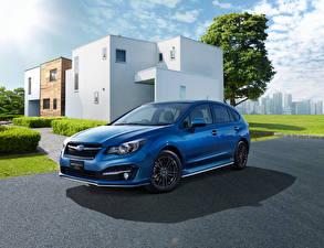 Hintergrundbilder Subaru Blau 2015 Impreza Sport Hybrid