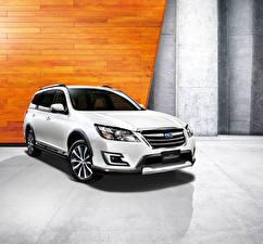 Bilder Subaru Weiß Softroader 2015 Exiga 7 YA5 auto