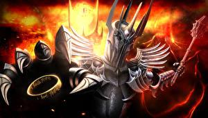 Bakgrunnsbilder Ringenes herre Fingerring Rustning Hjelm Sauron Fantasy