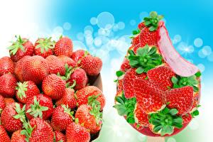 Hintergrundbilder Obst Erdbeeren Großansicht Speiseeis Lebensmittel
