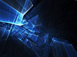 Bilder Abstraktion Blau