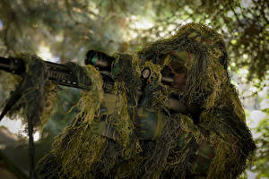 Picture Sniper rifle Snipers Camouflage