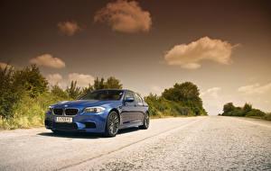 Image BMW Sky Blue M5 F10 Cars