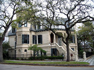 Hintergrundbilder Vereinigte Staaten Haus Design Ast Eigenheim Galveston Utah Victorian houses Städte