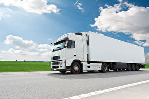 Wallpapers Trucks Sky White Clouds Cars