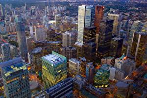 Image Canada Skyscrapers Building Toronto Megalopolis From above Cities