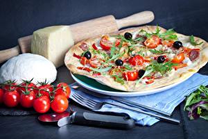Hintergrundbilder Fast food Pizza Tomate Käse das Essen