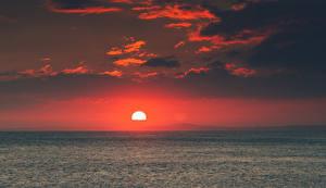 Fotos Sonnenaufgänge und Sonnenuntergänge Meer Horizont Sonne Natur
