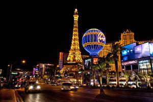 Bilder Vereinigte Staaten Haus Straße Las Vegas Stadtstraße Nacht Straßenlaterne Städte