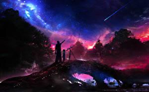 Image Sky 2 Night Space Fantasy