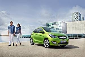 Fotos Opel Hellgrüne 2015 Karl