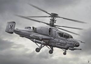 Fotos Hubschrauber Gezeichnet Kamov Luftfahrt