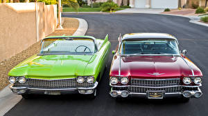 Images Retro Cadillac Cabriolet Two Front 1959 1960 automobile