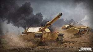 Wallpaper Armored Warfare Tanks MICV M1 Abrams US Bredly Games