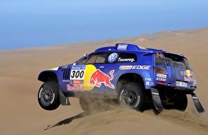 Bureaubladachtergronden Volkswagen Tuning Woestijn Zand Rally Touareg Dakar automobiel