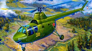 Fotos Gezeichnet Hubschrauber  Luftfahrt