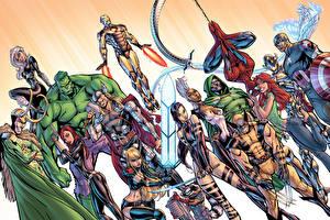 Hintergrundbilder Comic-Helden Spiderman Held Thor Held Hulk Held Iron Man Held marvel comics Avengers Mary Jane Watson loki black cat Black Widow Natalia Romanova Storm X-Men iceman wolverine guardians of the galaxy rocket Fantasy