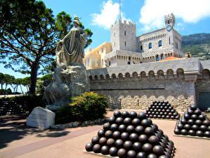 Bilder Monaco Denkmal Palast Bäume Strauch Prince Palace