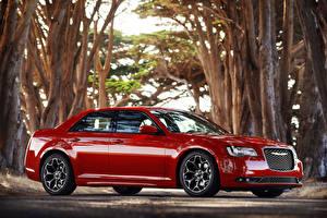 Wallpapers Chrysler Luxury Red Metallic Side 2015 Chrysler 300 S Cars