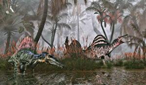 Picture Ancient animals Dinosaurs 2 Spinosaurus Animals 3D_Graphics