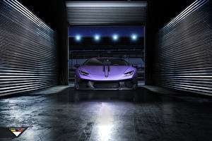 Wallpaper Lamborghini Garage Violet Front Expensive Huracan vorsteiner Novara tuning supercar Cars