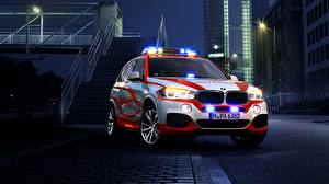 Pictures BMW Night time 2014 X5 xDrive Notarzt F15 Cars