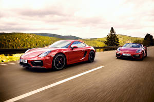Images Porsche 2 Red Motion 2014 911 Carrera 4 GTS Coupe 991 Cars