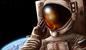 Picture Cosmonauts Helmet Space