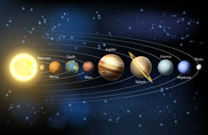 Image Planets Solar theme sketches in order Space 3D_Graphics