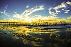 Bilder Vereinigte Staaten Küste Himmel Ozean Kalifornien San Diego Wolke Pacific Ocean Natur