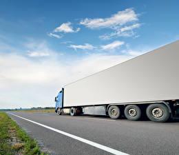 Photo Trucks Sky Roads auto