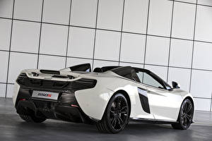 Wallpaper McLaren Tuning White Metallic Back view 2015 650S Spider Al Sahara 79 by MSO Cars