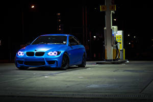 Wallpapers BMW Night time Blue 335i e93 Cars