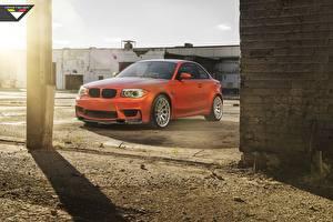 Image BMW Orange Vorsteiner 1 series M1 E82 automobile