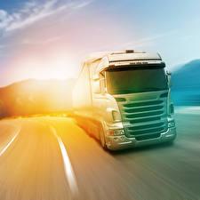 Wallpaper Trucks Roads White Driving auto