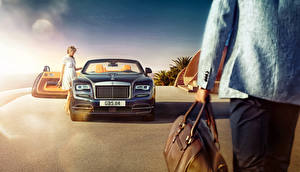 Pictures Rolls-Royce Luxury 2015 Dawn automobile Girls