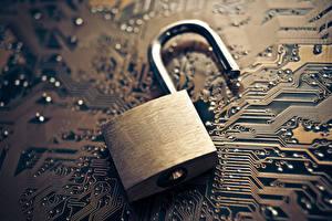 Image Closeup security electronics computers lock Computers