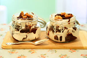 Wallpaper Confectionery Ice cream Jar 2 Spoon Food