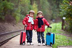 Image Railroads Boys 2 Jacket Suitcase Children