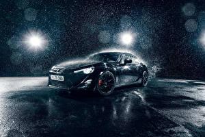 Fondos de escritorio Toyota Negro Gota de agua Salpicadura de agua GT86 Sport automóviles