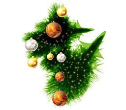 Hintergrundbilder Feiertage Neujahr Vektorgrafik Ast Kugeln