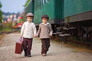 Picture Trains Boys 2 Suitcase Jacket child