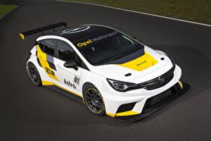 Hintergrundbilder Opel Tuning Weiß 2015 Astra TCR